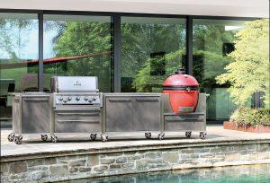 Outdoor-Küchen: kochen und grillen bei jedem Wetter, immer und überall